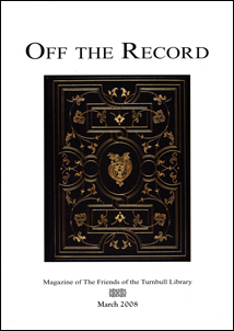 Special issue of  Off the Record for John Milton anniversary in 2008. View more.